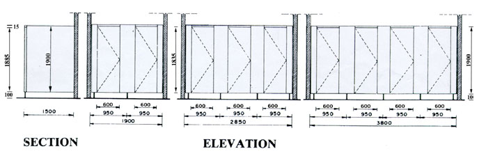 Bathroom Stall Dimensions Elevation